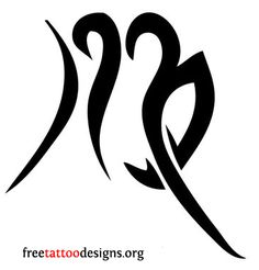 07b2703ab Virgo symbol tattoo design Zodiac Symbols, Virgo Zodiac, Zodiac Signs, Astrology  Signs,