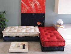Divano Pallet Vendita : Divano con bancali materassi di lana e cuscini ikea casa nel
