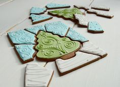 Packaged in cello a gingerbread cookie puzzle makes a perfect stocking stuffer