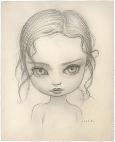 Maple Tree Nymph - Drawing Graphite on Paper, 2006 Girl Eyes Drawing, Easy Drawings, Pencil Drawings, Mark Ryden, Arte Disney, Goth Art, Arte Popular, Colouring Pages, Doll Face