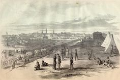 Generfal Buell's Army entering Louisville, Kentucky, Civil War 1860's