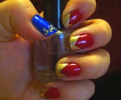 Wonder Woman nails - for halloween costume