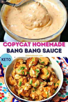 The Bonefish Grill is one of my favorite restaurants, mainly because I can't get enough of their Bang Bang Shrimp. Unfortunately, it is filled with sugar and carbs. This homemade Keto Bang Bang Sauce recipe tastes better than the original with simple substitutes. It's perfect for people who would rather save their carbs for things like dessert! Use it as a dipping sauce or dressing. Plus, get my recipe for bang bang shrimp. #bangbangsauce #copycatrecipe #ketorecipes #lowcarbrecipes Top Recipes, Copycat Recipes, Low Carb Recipes, Vegan Recipes, Cooking Recipes, Recipies, Dinner Recipes, Keto Sauces, Low Carb Sauces