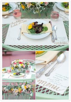 place card and menu together on the place mat - genius!