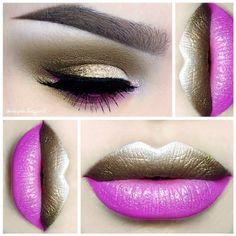 Adore this pink and gold lipstick art by @depechegurl! More: http://blog.furlesscosmetics.com/depeche-gurl/