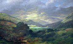 The Scottish Highlands ~ artist Gustave Doré #art #painting #landscape