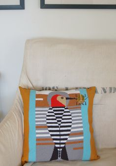 Molly's Sketchbook: Finishing a Needlepoint Pillow - The Purl Bee - a great 'how to'