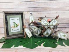 Adopt A Dinosaur Printed Party Signs & Thank You Tags, T-rex Thank You Tags, T-rex Party Sign, Dinosaur Party, Dinosaur Party Favor Tags Dinosaur Party Favors, Dinosaur Cake, 4th Birthday Parties, 7th Birthday, Jurassic World Cake, Party Favor Tags, Party Signs, T Rex, Woods