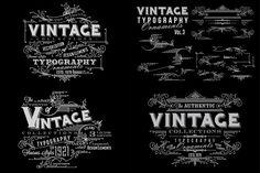 Vintage Typography Ornaments v3 by G7 on @creativemarket