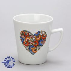 #kubek #mug #serce #heart #folk #ludowo #hanmade #ręczniemalowane #valentinesday