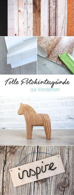 DIY, Gingered Things, Fotohintergründe, Wandsticker, Holz, Beton, Kork, Schiefer