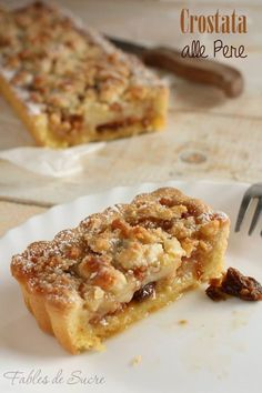 Crostata pere mandorle e amaretti ~ Pear, Almond and Amaretti tart Sweet Recipes, Cake Recipes, Dessert Recipes, Italian Desserts, Italian Recipes, Pear Dessert, Sweet Cooking, Italy Food, Specialty Foods