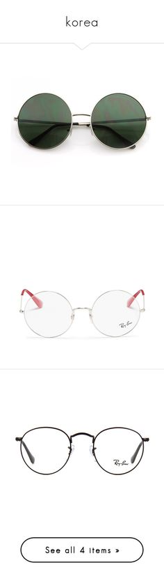 """""""korea"""" by chotmanee ❤ liked on Polyvore featuring accessories, eyewear, sunglasses, glasses, lens glasses, circle lens sunglasses, circle sunglasses, circular sunglasses, circle glasses and eyeglasses"""