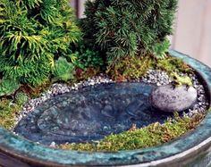 """Waterless"" Frog Pond for Fairy Garden"