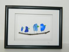 Blue Sea Glass Family 5 x 7 by RockyCoastDesigns on Etsy, $60.00