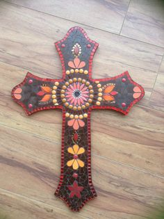 Mosaic cross by Lisa B's Art Studio