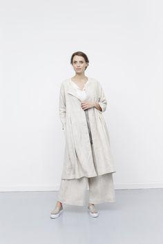 Kjole-frakke med knapper