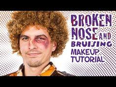 Broken Nose & Bruise Makeup Tutorial   #WHCdoesSFX