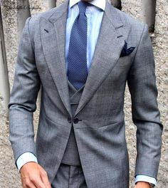Absolute Bespoke grey prince of Wales morning dress / Chaqué príncipe de Gales gris