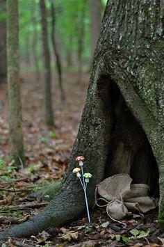 Woodland fairy party ideas & a treasure hunt. X