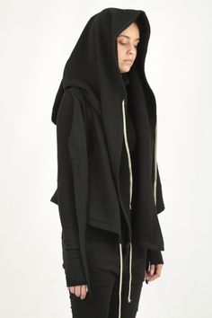 Cropped Hooded Wrap Black – Roma