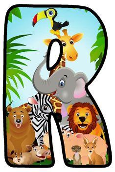 - Make up Safari Theme Birthday, First Birthday Party Themes, Safari Party, Jungle Party, Alfabeto Animal, Letter B, Jungle Animals, Alphabet, Decoration