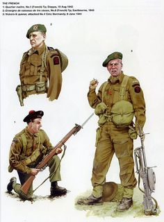 "No 10 (Inter-Allied) Commando, - ""This was the largest of Britain's raiding units. Composed of volunteers from Europe's occupied countries. This is one of eight plates produced for Osprey's Elite 142 ""No 10 (Inter-Allied) Commando Art by Rob Chapman Military Photos, Military Art, Military History, Commonwealth, British Army Uniform, British Soldier, British Uniforms, British Commandos, Battle Of The Somme"