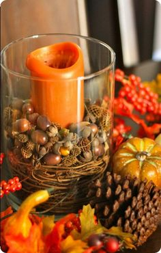 Follow these easy steps for making a fall hurricane just like those seen in Pottery Barn!