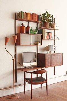 Wall desk... Cado Wall Unit Danish Mid Century Modular by OtherTimesVintage