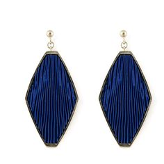 Lien Hereijgers Silver Gold Plated Earrings 2 - zilver/blauw ($155) ❤ liked on Polyvore featuring jewelry, earrings, black, silver jewellery, gold plated jewelry, silver jewelry, earring jewelry and gold plated silver jewelry