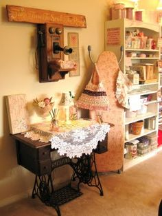My Grandmother's sewing machine. The Beehive Cottage