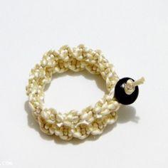 .Macrame satin twisted wrist band / bracelet