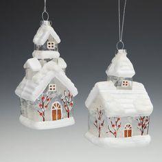 Новогодния игрушка домик
