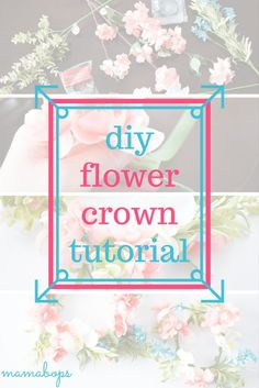 How to Make a Flower Crown with Fake Flowers - Easy DIY Tutorial to Make Your Own Flower Crown. A DIY Floral Crown is a great accessory for a photo shoot or a special outfit. Using faux flowers means you can re-use your flower crown again and again! Also includes instructions for Mommy and Me Flower Crowns for Mom and Baby!