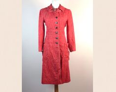 Vintage 60s Mod Coat  Red Women's Coat by sixcatsfunVINTAGE