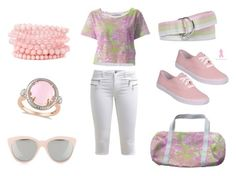 """Pretty Spring Pastel"" by kelly-cavender ❤ liked on Polyvore featuring ONLY, Brooks Brothers, Allurez and Quay"