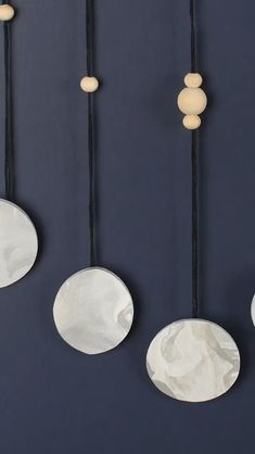 Verified Moon Phase Hanging Wall Art This DIY is not just a phase and best tricks to learn Diy Hanging, Hanging Wall Art, Moon Fases, Mobiles, Boho Bedroom Diy, Moon Crafts, Clay Wall Art, Moon Decor, Witch Decor