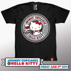 'Johnny Cupcakes x Hello Kitty' Shirts Spices up the Sanrio World trendhunter.com