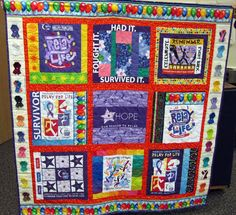 Love this! If anyone knows how to make quilts this would be a great fundraiser!