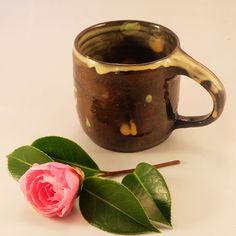 Hand made ceramic pottery small coffee cup by ThomasMorleyCeramics on Etsy