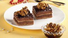 Ořechové řezy s čokoládou