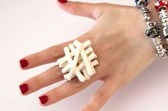 Ceramic Statement Ring    big bold handmade by StudioLeanne, $40.00