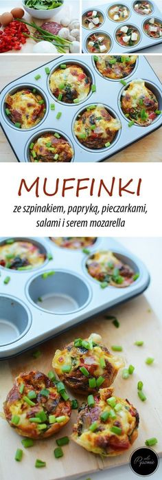 Muffinki jajeczne Tasty Dishes, Mozzarella, Ale, French Toast, Tacos, Brunch, Mexican, Breakfast, Ethnic Recipes
