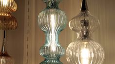 Loving these vintage pendants via Hudson Valley Lighting