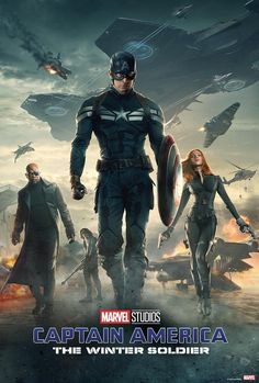 Trends International Captain America 2 - One Sheet Poster Iron Man 3, Marvel Captain America, Marvel Films, Marvel Cinematic, Bucky Barnes, Steve Rogers, Collection Marvel, Winter Soldier Movie, 2nd One