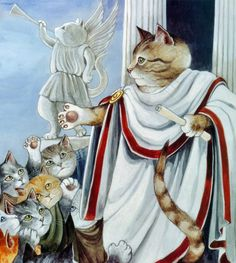 Julius Caesar... as a cat. Hopefully it's not the Ides of March. If it is, hopefully this cat is not on its 9th life!