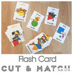 Flash Card Cut & Match {We never use these flash cards so I decided to make a different kind of matching game!} #matching #matchinggame #toddlermatching #earlyeducation #earlylearning #toddleractivities #toddleractivity #toddlerfun #toddlerplay