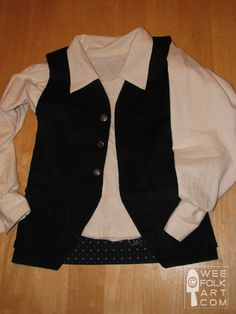 vest tutorial - boys - sewing pattern - shows how to even add a liner!