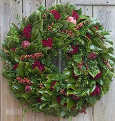 Cabernet Magnolia Wreath by Circle Home and Design