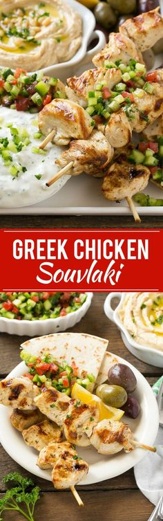 Greek Chicken Souvlaki Recipe | Easy Greek Chicken | Chicken Souvlaki | Greek Chicken Skewers | Easy Greek Chicken Skewers Greek Style Chicken, Greek Chicken Breast, Greek Chicken Kabobs, Yogurt Marinated Chicken, Greek Chicken Recipes, Marinated Olives, Greek Chicken Souvlaki, Chicken Slovaki Recipe, Greek Recipes